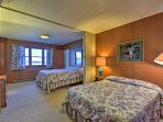 Sleep soundly in one of the 2 cozy full beds.