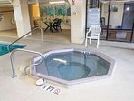Enjoy the indoor hot tub year 'round, rain or shine.