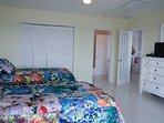 Spacious 2nd Bedroom, two twin beds, full bath-tub & shower, view & access to Caribbean,