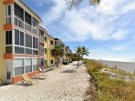 The beach side of this amazing condo on Siesta Key