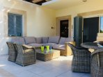 Main patio with comfortable seating