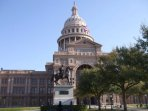 Tour Texas' beautiful State Capitol Building; observe art and historic displays