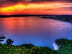 Incredible Lake Travis sunsets. Enjoy Lakeway restaurants, views and water sports