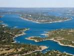 Lake Travis is just 10 minutes from the estate guesthouse.
