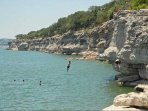 Rock Jumping at Lake Travis.