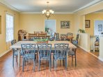 Host formal family dinners or dinner parties in the expansive dining area.
