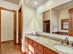 Private master bath in king bedroom suite