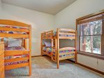 Third bedroom with 2 twin over twin bunk beds