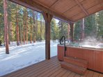 Relax in your private outdoor hot tub!