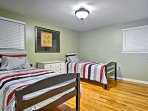 Sleep is sure to come easy on the 2 twin beds.