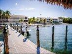 Docking and marina area in Executive Bay.