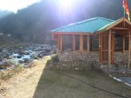 Our Dinning hall next to Tirthan River