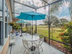 Breathtaking golfcourse view!Dog Friendly, Quaint Home with use of golf cart!