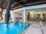 Pool to living area