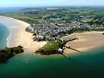 Tenby town and South, Castle, Harbour and North beaches.