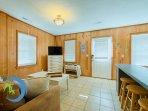 Bar Top, Living Room and Front Door