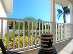 How about a morning coffee at the front porch?