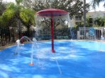 Splash pad.  Great fun for children and adults