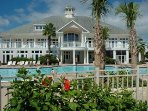Club building & pool