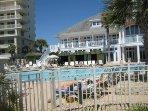Club pool & restaurant