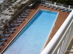 View to gravity pool from balcony