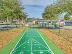 Challenge a loved one to a friendly game of shuffleboard in the Oceanside Village community.