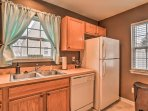 No matter where you stand in the kitchen, you'll have unobstructed views of the palms.