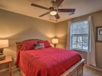 Perfect for couples, this room houses a cozy queen bed.
