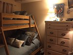 3rd bedroom with twin over full bunk beds