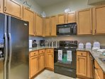 The kitchen is fully equipped with updated appliances and all the culinary amenities necessary, including pastas...