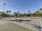 Compete with friends in a game of tennis at the community courts!