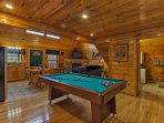 Challenge your travel companions to a game of billiards.