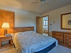 The third and final bedroom has a comfortable queen mattress.