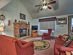 You and your family can relax in front of the wood-burning fireplace.