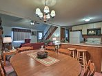 Enjoy home-cooked dinners around this dining table.