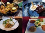 Los Alcazarés caters for every cuisine you can think of all 5 min walk from the apartment.