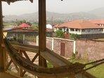 Mountain view from pergola
