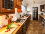 A well-equipped traditional kitchen