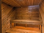 After a long day on the slopes, you'll love coming home to this sauna!
