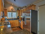 Prepare home-cooked cuisine in the fully equipped kitchen.