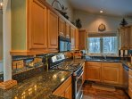 Stainless steel appliances make cooking for 8 an effortless task!