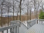 Soak up unobstructed views of the valley and ski runs from the back deck.