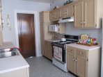 stove, microwave, refrigerator
