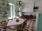 Full kitchen with dining set