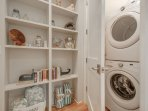Laundry Closet with Stackable Washer/Dryer