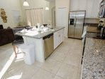 Modern Kitchen w/Stainless Steel Appliances and Granite Counter Tops - View #2