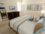 Downstairs King Master Bedroom w/En-Suite Bath, Flat Screen TV w/Cable & Pool Access