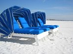 These turtle top loungers are available at this complex for $25/day or use the free complex provided lounge chairs.
