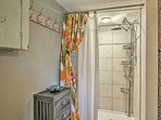 Start your day with a rinse in the villa's walk-in shower.