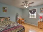 This bedroom offers a twin bed with twin trundle.